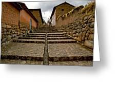Stairs In Chinchero Peru Greeting Card