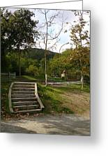 Stairs In The Park Greeting Card
