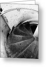 Stairs Leading Downward Into The Catacombs Of Paris France Greeting Card