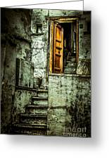 Stairs Leading To The Old Door Greeting Card