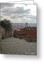 Stairs To Prague Greeting Card