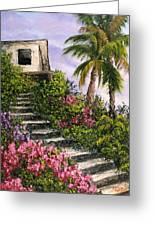 Stairway Garden Greeting Card