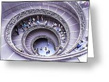 Stairway In Vatican Museum Greeting Card