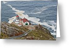 Stairway Leading To Point Reyes Lighthouse Greeting Card
