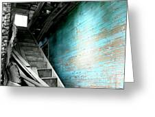 Stairway To Abandoned Greeting Card by Amy Sorrell