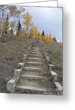 Stairway To Autumn Greeting Card