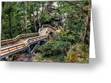 Stairway To Chimney Rock Greeting Card