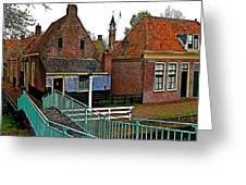 Stairway To Enkhuizen From The Dike-netherlands Greeting Card