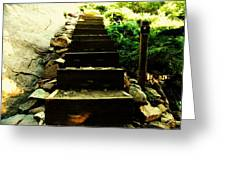 Stairway To Happiness Greeting Card