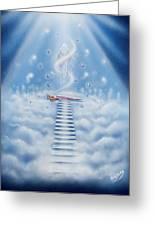 Stairway To Heaven Greeting Card by Nickie Bradley
