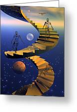 Stairway To Imagination Greeting Card