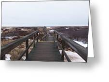 Stairway To The Atlantic Greeting Card
