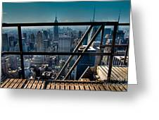 Stairways On Top Of Rockefeller Center Greeting Card by Amy Cicconi