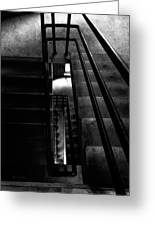 Stairwell Greeting Card by Bob Orsillo