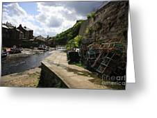 Staithes Harbour Greeting Card