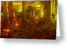 Stalactite Cave In Yellow Greeting Card
