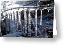Stalactite Of Ice Greeting Card