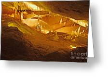 Stalactites And Stalagmites In Cave Ibiza Greeting Card