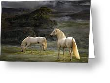 Stallions Of The Gods Greeting Card