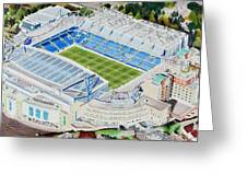 Stamford Bridge Stadia Art - Chelsea Fc Greeting Card