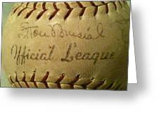 Stan Musial Autograph Baseball Greeting Card