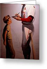 Stan Musial Mural Greeting Card