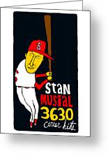 Stan Musial St Louis Cardinals Greeting Card