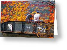Stand By Me Impasto Greeting Card
