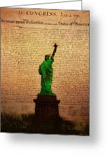Stand Up For Freedom Greeting Card