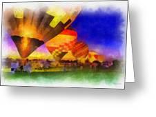 Standbye To Launch Hot Air Balloons Photo Art Greeting Card