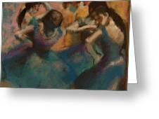 Standing Ballerinas Greeting Card by Lauren Heller
