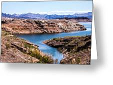 Standing In A Ravine At Lake Mead Greeting Card