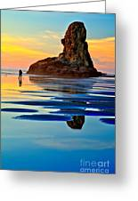Standing In A Sea Of Blue Greeting Card