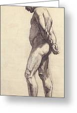 Standing Male Nude Greeting Card by Felix Edouard Vallotton
