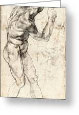 Standing Male Nude Greeting Card