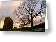 Standing Stones, England Greeting Card