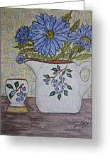 Stangl Blueberry Pottery Greeting Card