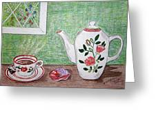 Stangl Pottery Rose Pattern Greeting Card