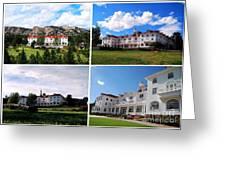 Stanley Hotel In Estes Park Colorado Collage Greeting Card