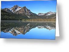Stanley Lake Sawtooth Mountains Greeting Card