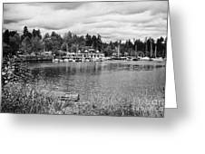 stanley park coal harbour and Vancouver rowing club marina BC Canada Greeting Card