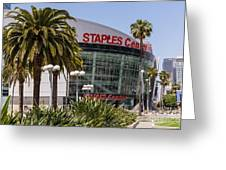 Staples Center In Los Angeles California Greeting Card