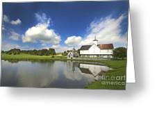 Star Barn And Pond Greeting Card
