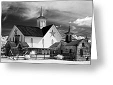 Star Barn Complex In Infrared Greeting Card