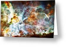 Star Birth In The Carina Nebula  Greeting Card