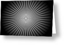 Star Black Greeting Card
