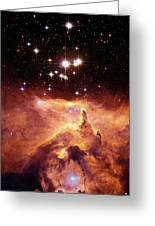 Star Cluster Pismis 24 Above Ngc 6357 Greeting Card