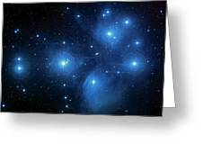 Star Cluster Pleiades Seven Sisters Greeting Card by Jennifer Rondinelli Reilly - Fine Art Photography