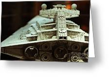 Star Destroyer Maquette Greeting Card by Micah May