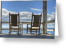 Star Island Rocking Chairs Greeting Card